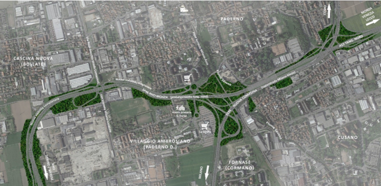 L'area di Paderno: stato di fatto, progetto Milano-Serravalle e proposta migliorativa